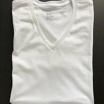 Muji Japan Men Minimal Organic Cotton Apc Sicilian Sexy White v Neck T Shirt S Photo