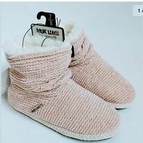 Muk Luks Cozy Chenille Slipper Boot Bootie Light Pink Blush Size Medium 7-8 Nwt Photo