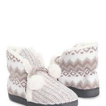 Muk Luks Lulu Faux Fur Slipper Bootie Violet Ice Size M (7-8) Brand New W/o Box Photo