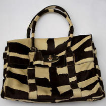 Mulberry Made in England Pony Print Haircalf Bayswater Bag Handbag Brown Suede Photo