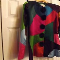 Mult-Icolor Oscar De La Renta Silk & Satin Jacket (8) Photo