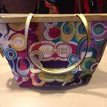 Multi Color Coach Purse Like New Photo
