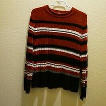 Multi-Color Striped Long Sleeve Knit Sweater by Classic Elements Size S 6-8 Photo