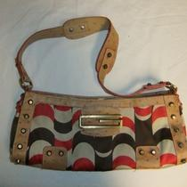 Multi Colored Guess Purse With Red Lining Photo