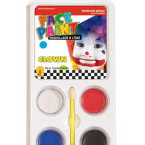 Multi-Purpose Clown  Costume Accessory 5-Piece Aqua Makeup Kit Photo