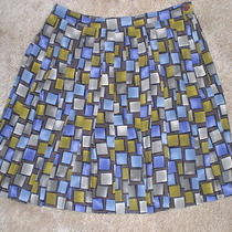 Multicolor(purple Brown Blue Green) Mini Pleated Skirt by Express 9/10 (B4) Photo