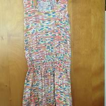 Multiprint Cotton Cinched Waist Dress Photo