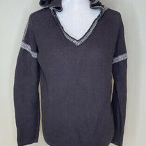 Mur Mur Anthropologie Womens Hooded Knitted Pullover Top Sweater Size M Brown C7 Photo