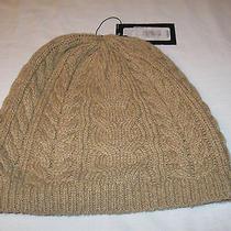 Murano Knit Cap Beanie Beige Nwt  Acrylic & Lambs Wool  Osfm Photo