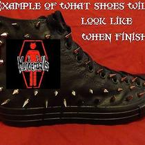 Murderdolls Metal Punk Rock Custom Studded Converse Shirt Sneakers Shoes Spikes Photo