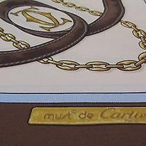Must De Cartier Silk Scarf Cartier Symbols Belts Buckles   Photo
