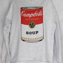 Mustache 3r Gade Urban Outfitters Campbell's Soup Sweatshirt Juniors Size L Photo