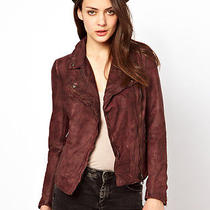Muubaa Biker Jacket Monteria Slim Wired Chestnut Brown Leather Fitted 4 Photo