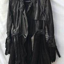 Muubaa Brown Leather and Suede 3 in 1 Coat Jacket Gilet Size 12 Bnwt Sold Out Photo