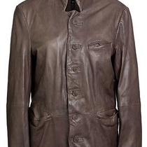 Muubaa Florian Leather Jacket in Graphite Size L Photo