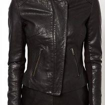 Muubaa Zaire Lambs Leather Epaulettes Collarless Biker Jacket Size 6 New Photo