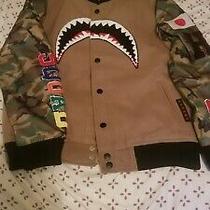 Mvp Shark Mouth Varsity Jacket Bape Style Sz Small Usa Fast Shipping Photo