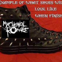 My Chemical Romance Metal Custom Studded Converse Shirt Sneakers Shoes W Spikes Photo