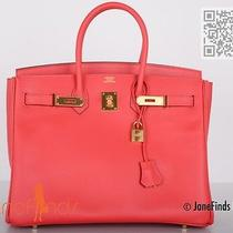 My Fave Hermes Birkin Bag 35cm Bougenville in Epsom Leather Ghw Photo