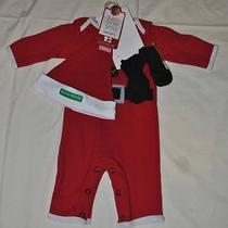 My First Christmas 3pc. Newborn Santa Suit Set Carter's - New Photo