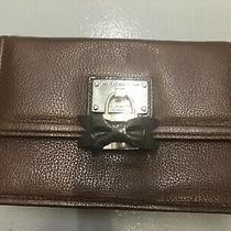 My Flat in London Brighton Brown Leather Flap Luxe Clutch/purse Wallet Queen Htf Photo