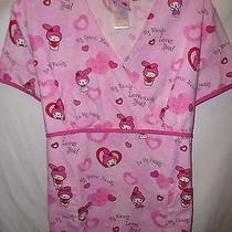 My Melody by Sanrio Women's Pink Scrub Shirt---Large Photo