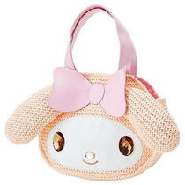 My Melody Die-Cut Ribbon Chochet Handbag Handy Bag Sanrio Photo