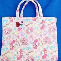 My Melody Sweet Piano Kilt Lesson School Bag Handbag Sanrio Made in Japan Z2702 Photo