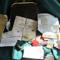 My Mother's Vintage 1964 Purse and Contents Including My Sin Perfume Monocet Etc Photo