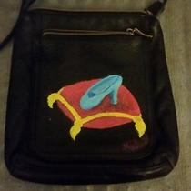 My Upcycled Handpainted Fossil Purse Has Cinderella's Slipper Painted on It  Photo