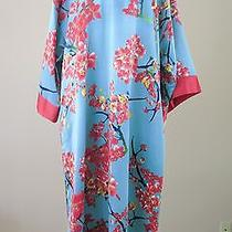N by Josie Natori Sunset Blossom Caftan Polyester Charmeuse L Nwt Photo