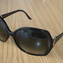 N.mint Bvlgari Bulgari 8035 501/8g Shiny Black Oversize Gradient Lens Sunglasses Photo