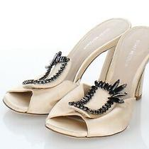 N26 New 575 Women's 6 M Stuart Weitzman Radiance Satin Heel Sandal in Blush Photo
