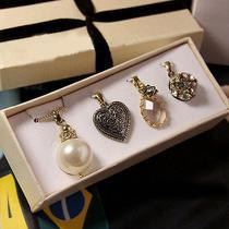 N371 Avon Beautiful 4 Pendants Necklace W/ Free Chain Brand New in Original Box Photo