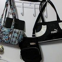 Name Brand Purse Lot  Vera Bradley  Fossil Voyager  and Puma Sports Photo
