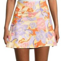 Nanette Lepore a-Line Women's Mini Skirt Color Bloom Mrsp 58  Photo