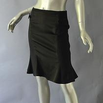 Nanette Lepore Black Fluted Skirt W/ Bows Size 4 Photo