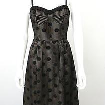 Nanette Lepore Black Polka Dot Full Skirt Vintage Inspired Dress Sz 4 S Photo