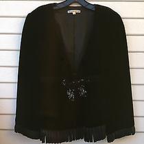 Nanette Lepore Black Velvet Jacket Sz 6 Photo