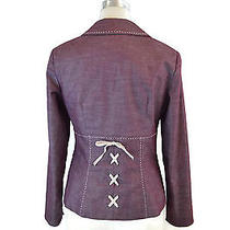 Nanette Lepore Blazer Sz 6 S Lace Up Corset Photo