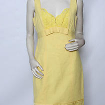Nanette Lepore Canary Yellow Cotton Lace Nice Girl Dress Sz 10 Nwt 395 Photo