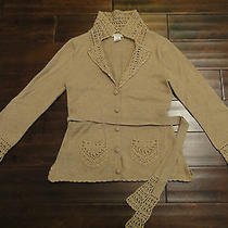 Nanette Lepore Crochet Cardigan Sweater  Photo
