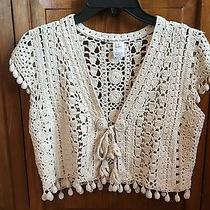 Nanette Lepore Crochet Sweater Photo