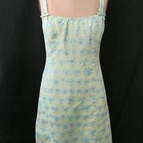 Nanette Lepore Dress 8 M Sheath Summer Floral Green Aqua Blue Brocade Cocktail Photo