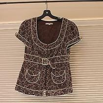 Nanette Lepore Fitted Embroidered Top Size 6 Photo