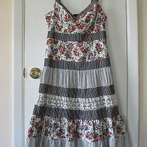 Nanette Lepore...floral/bird/stripe/polka Dots Dress...size 6 Photo
