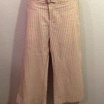 Nanette Lepore Fun Cream Striped Short Pants Sz 4 Adorable Photo