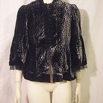 Nanette Lepore Multi-Color (Beige and Black) Velvet Jacket Size 8 New No Tags Photo