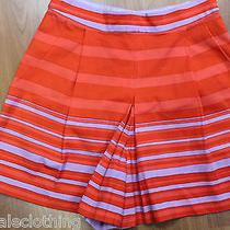 Nanette Lepore Orange Red Fluted Shorts Back Zipper 0 Xs S Photo