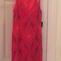 Nanette Lepore Red Dress 2 Sequins Nwt Photo